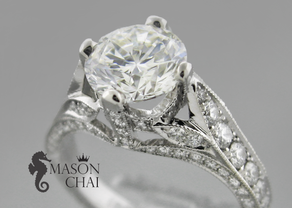 Custom Crafted Diamond Engagement Ring