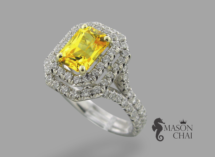 Stunning Yellow Diamond Ring